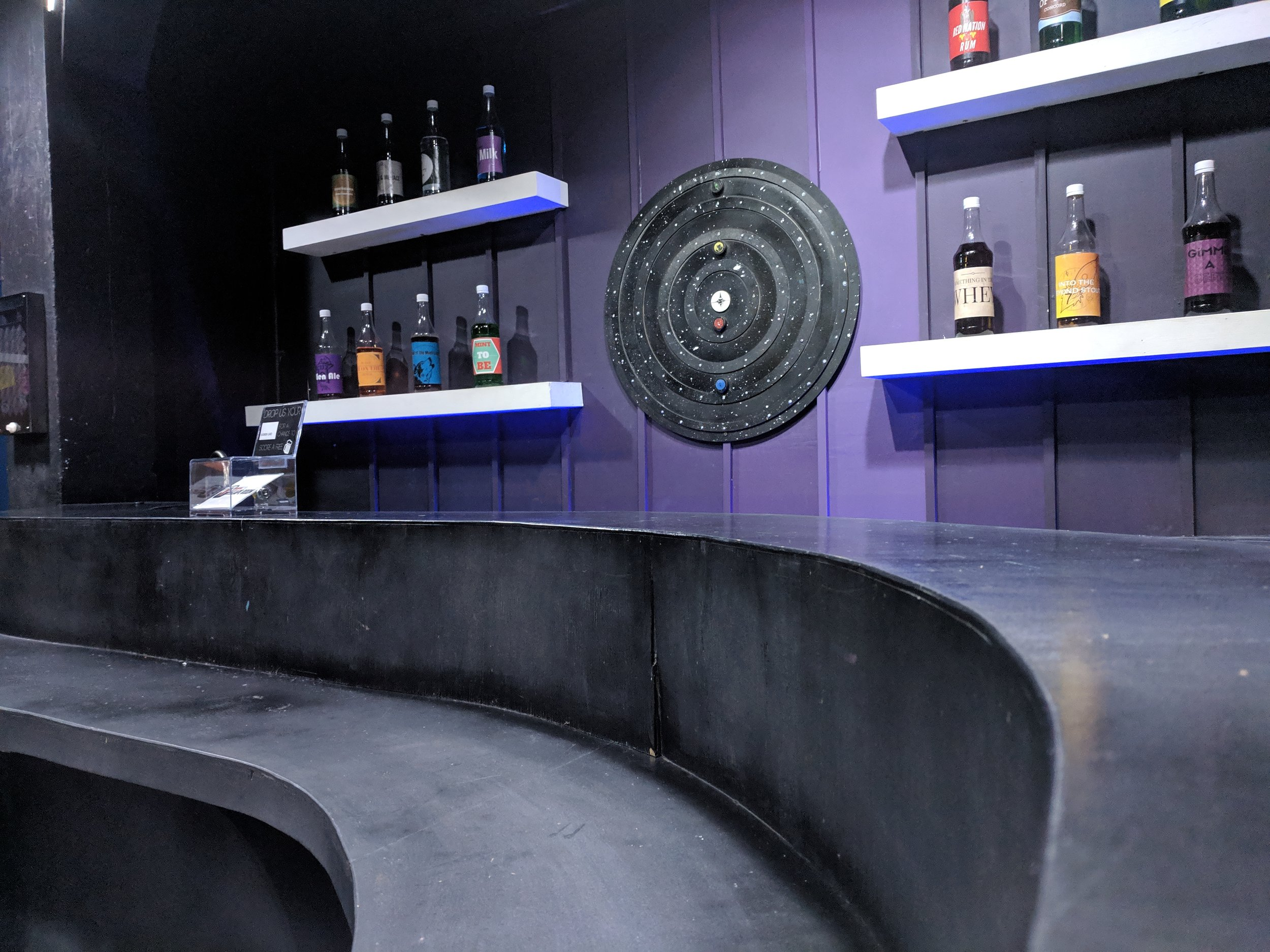 Dark Side of the Moon - Explore the space-themed bar Dark Side of the Moon and help expose the heinous PharmaCo!