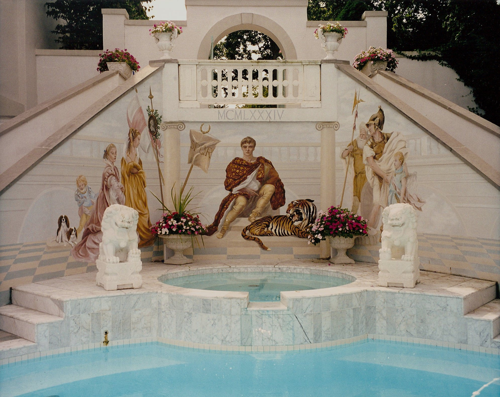 Outdoor Pool Mural Rumson, NJ