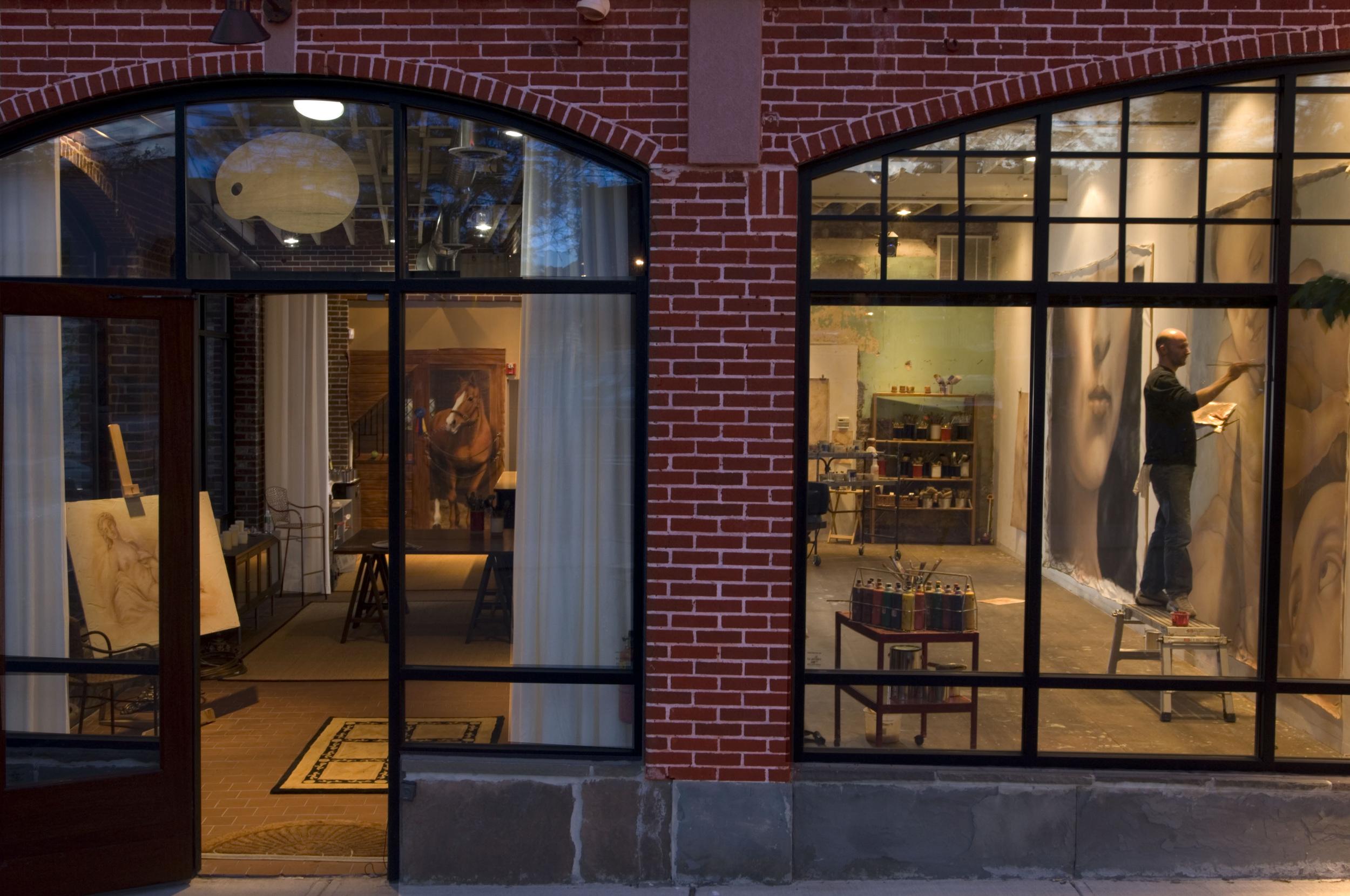 Artist's studio Montclair, New Jersey