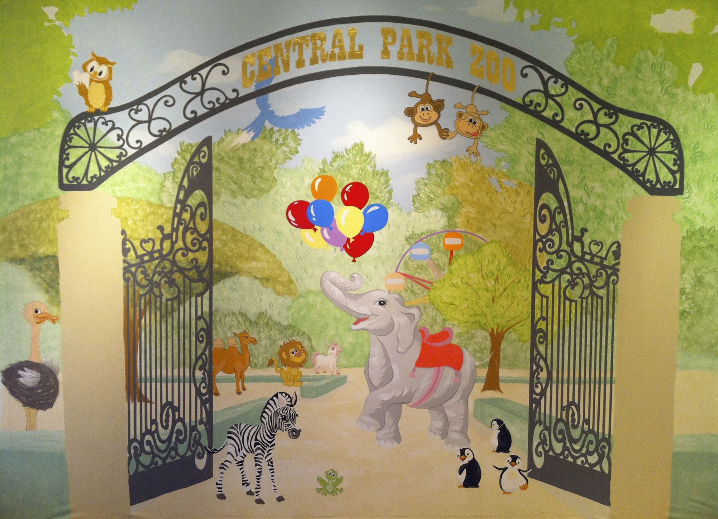 Zoo Bedroom Mural