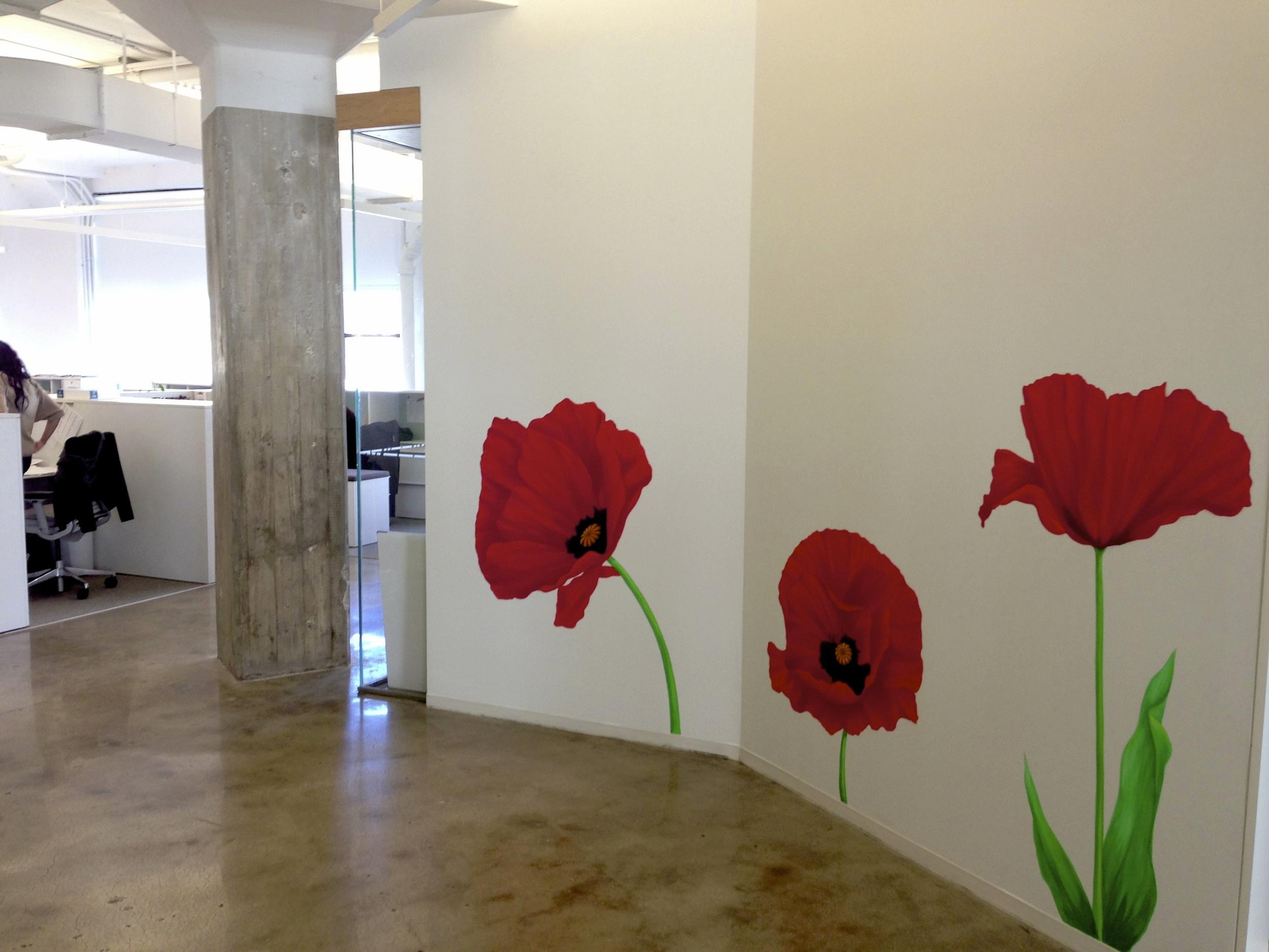 Poppy Office Mural