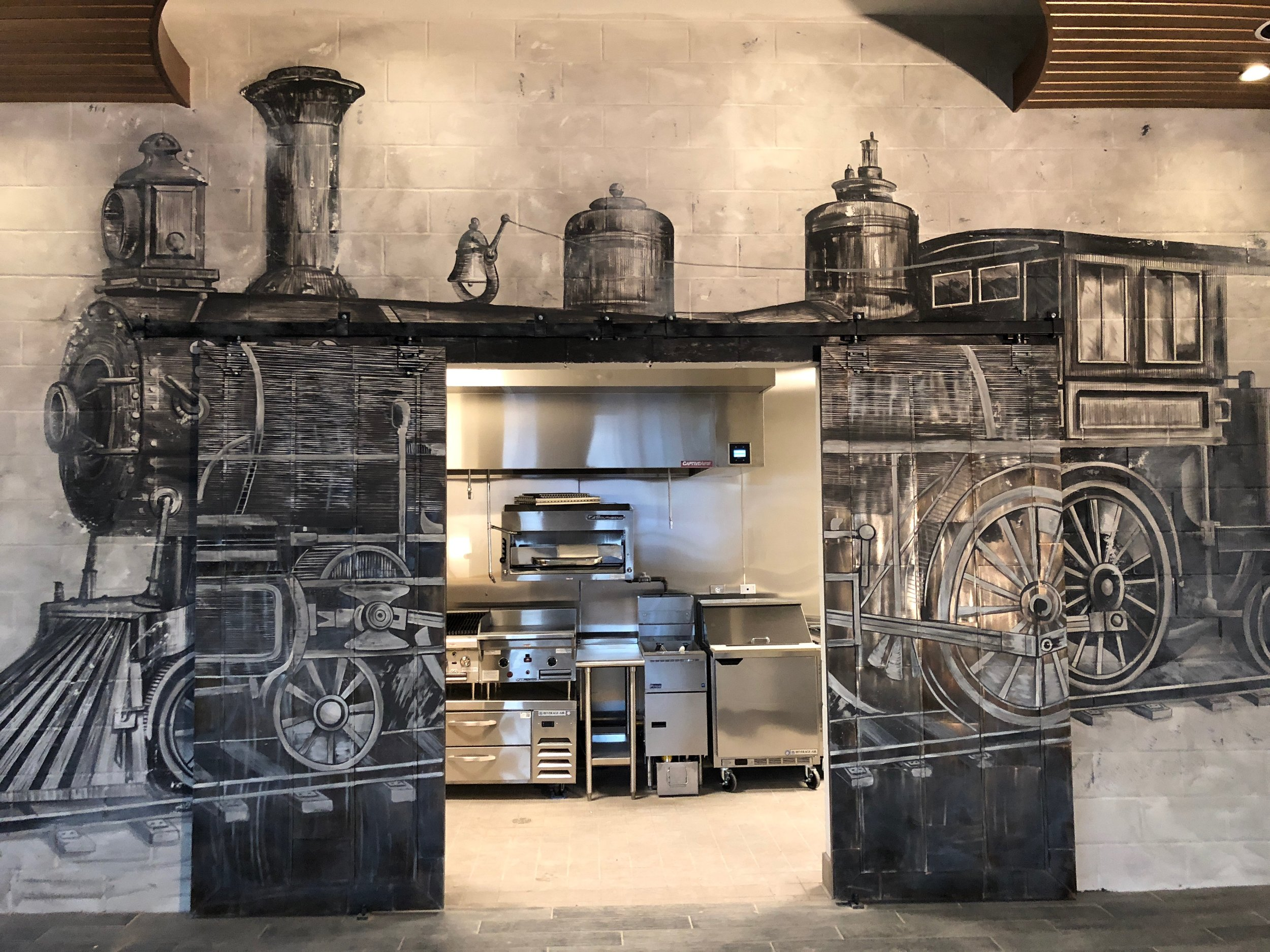 Kitchen Restaurant Mural