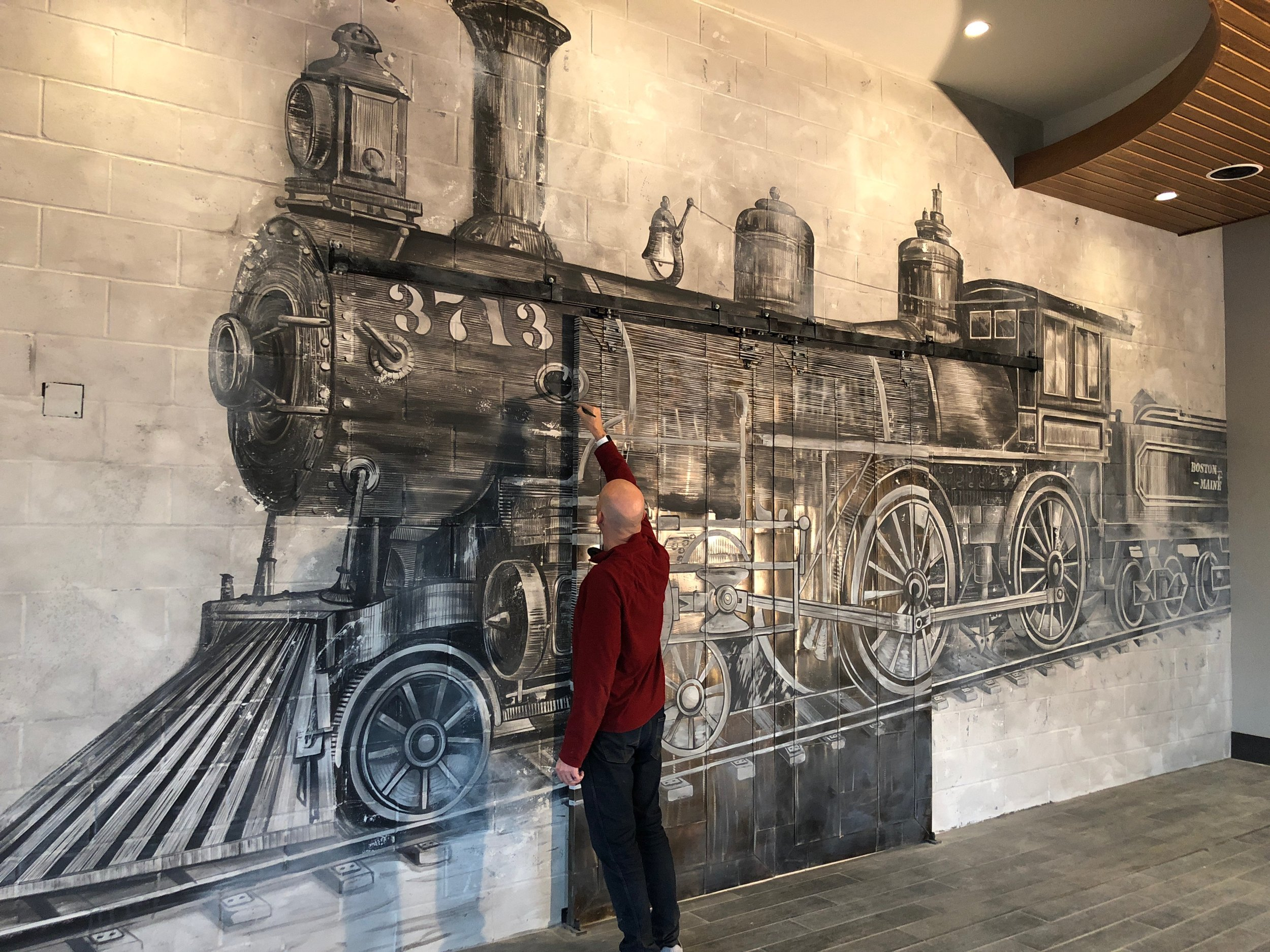 Kitchen Train Mural