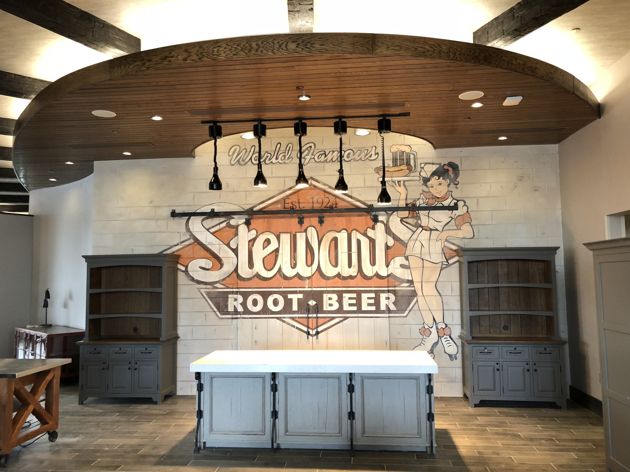 Car Hop Wall Mural Stewarts Root Beer