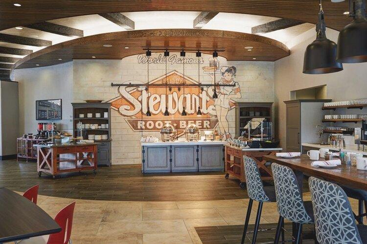 Stewarts Root Beer Archer Hotel Kitchen Mural
