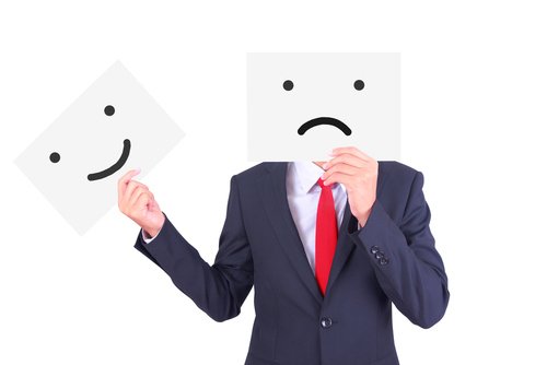 happy and sad face business