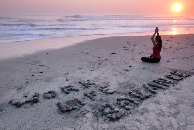 woman in beach alone
