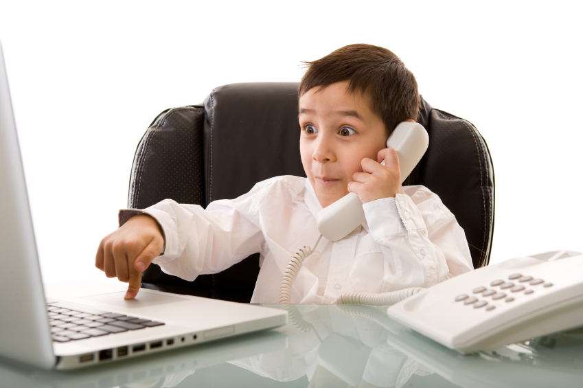 boy in the phone
