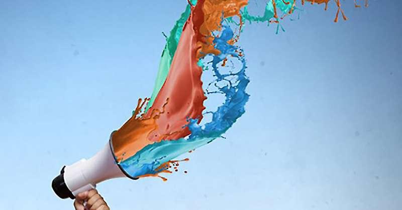 colourful bullhorn