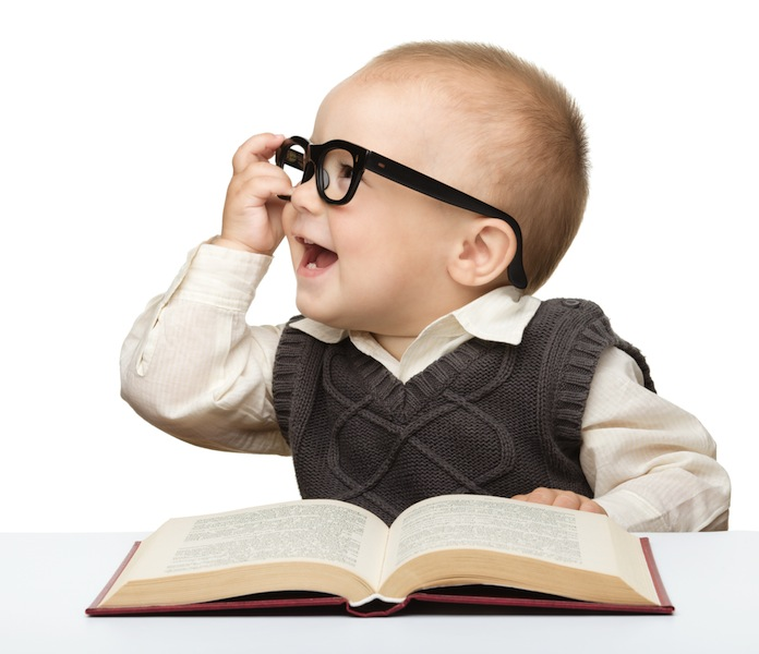 baby with eyeglasses book