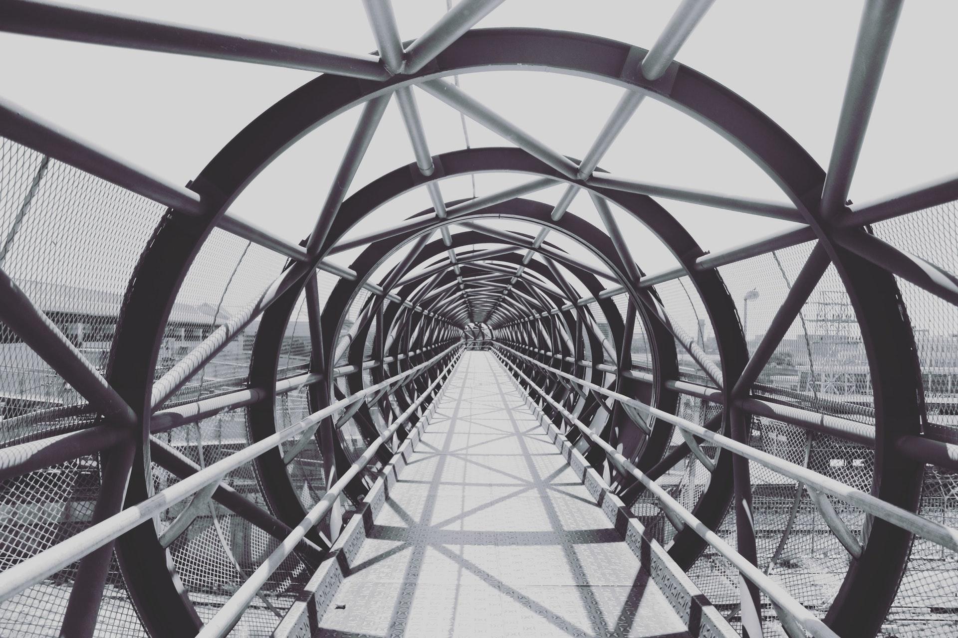 black and white bridge