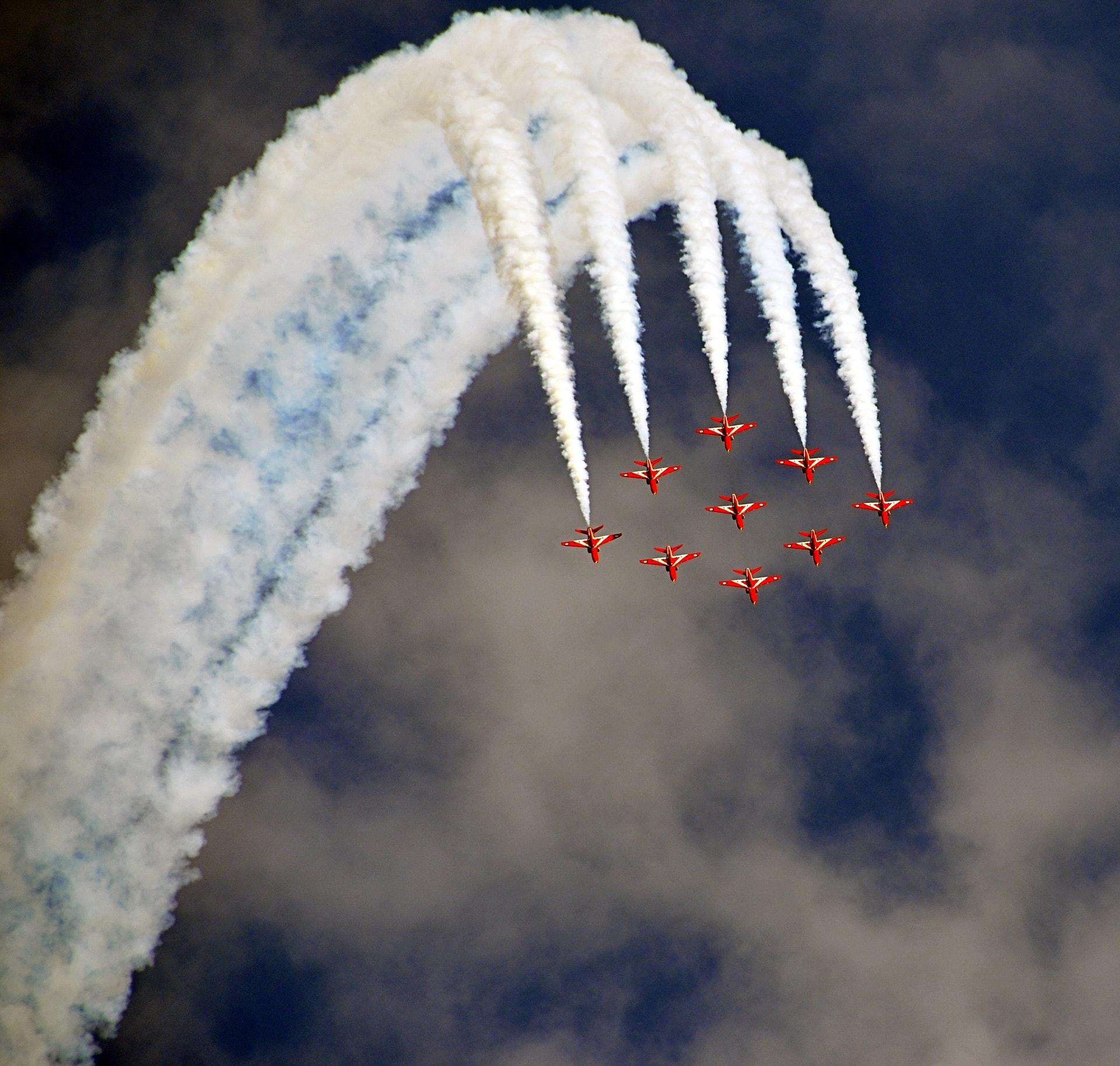 teamwork fighter planes