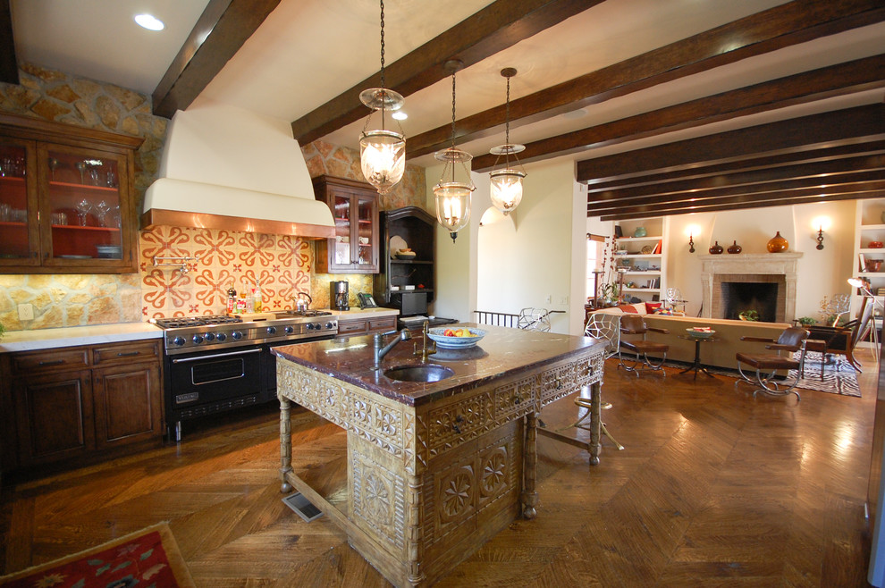 Brentwood Spanish Home Kitchen
