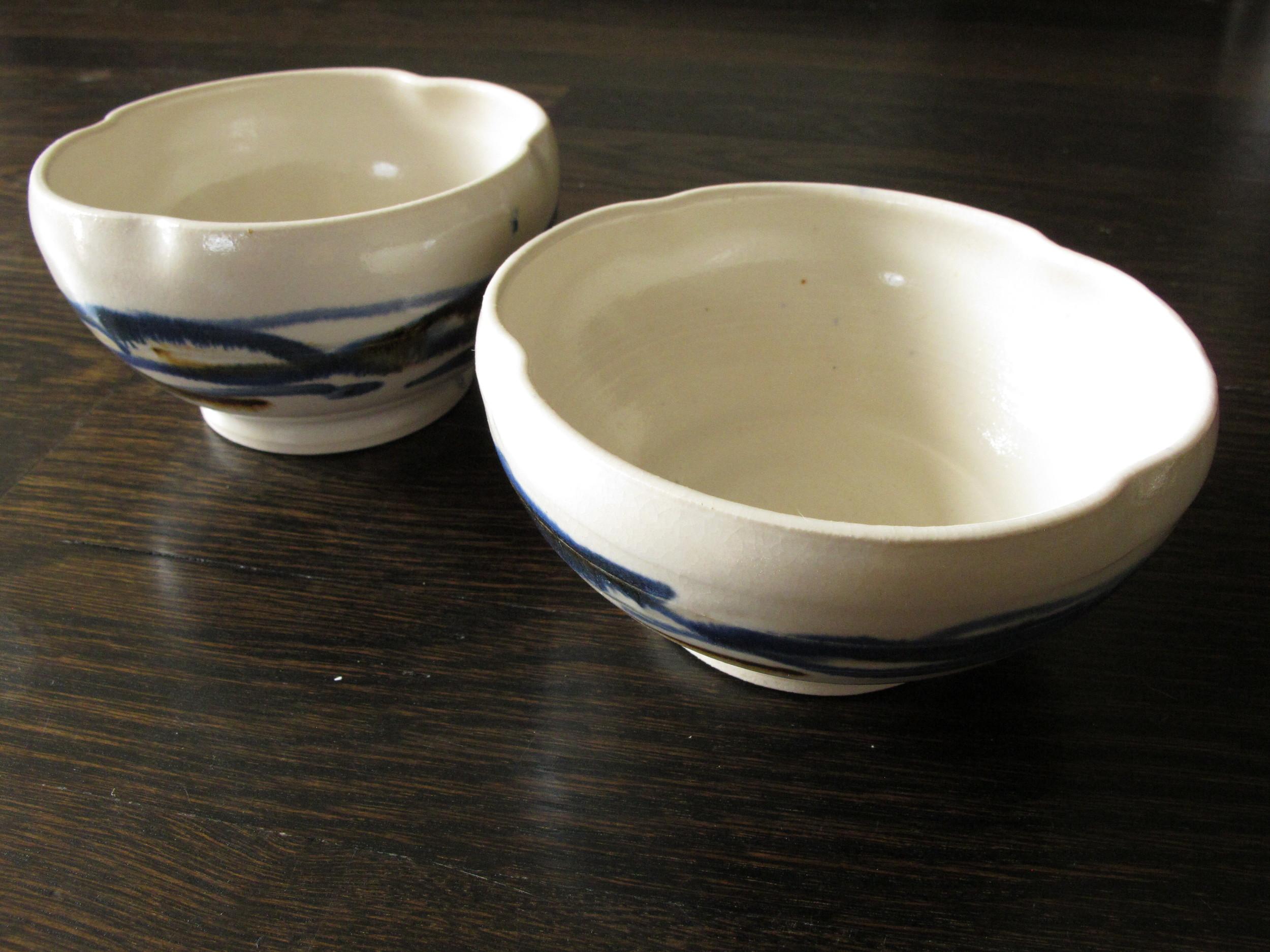 Banded bowls.