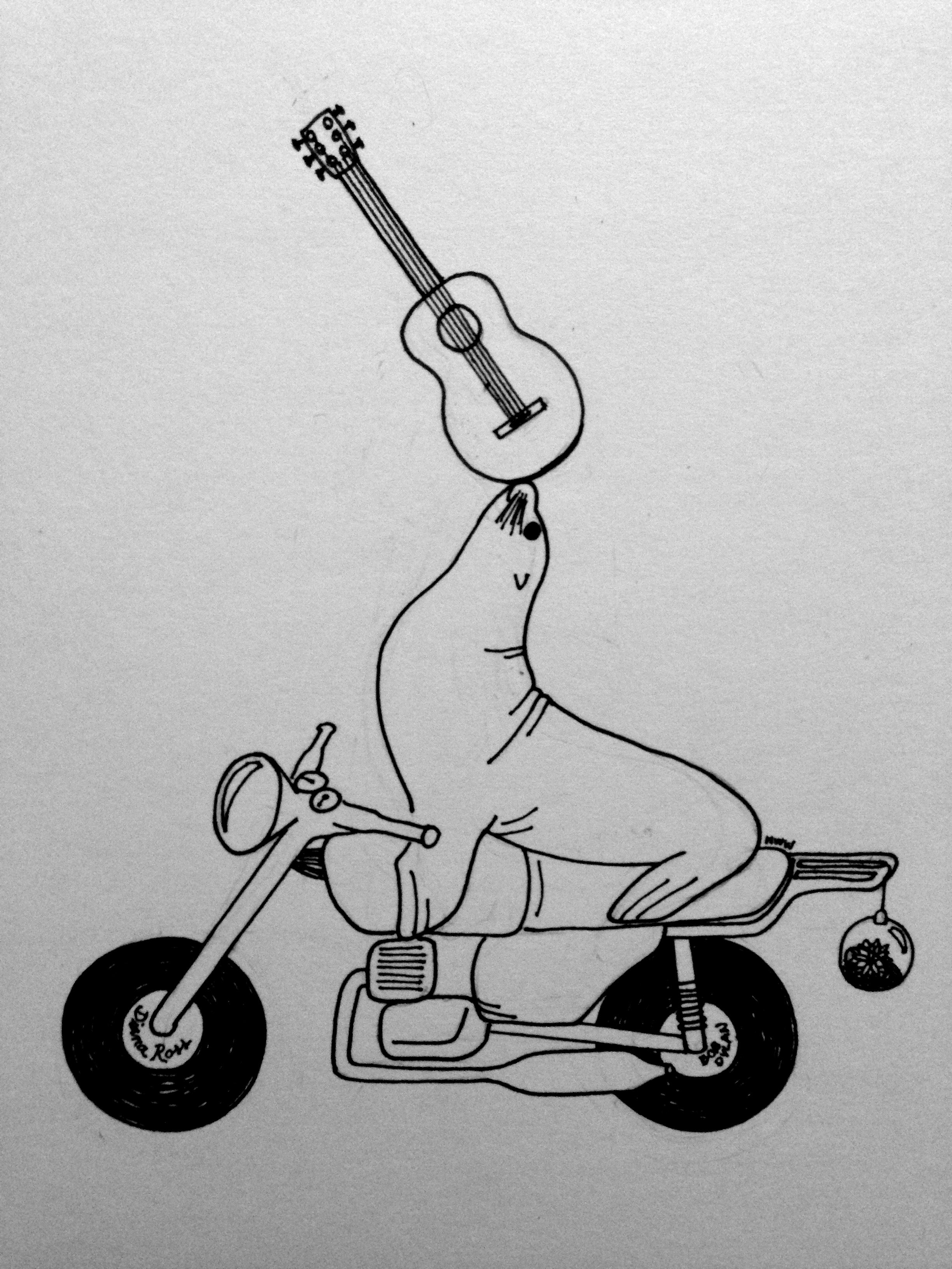 Biker lion, for Kaia Joye