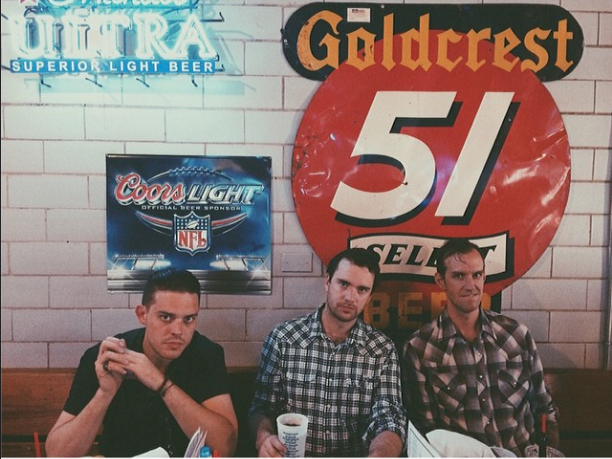 Me, Austin & Corey at Gus's.  Photos by  Rosie Cohe
