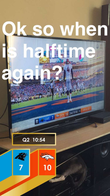 My Super Bowl Snapchat story...