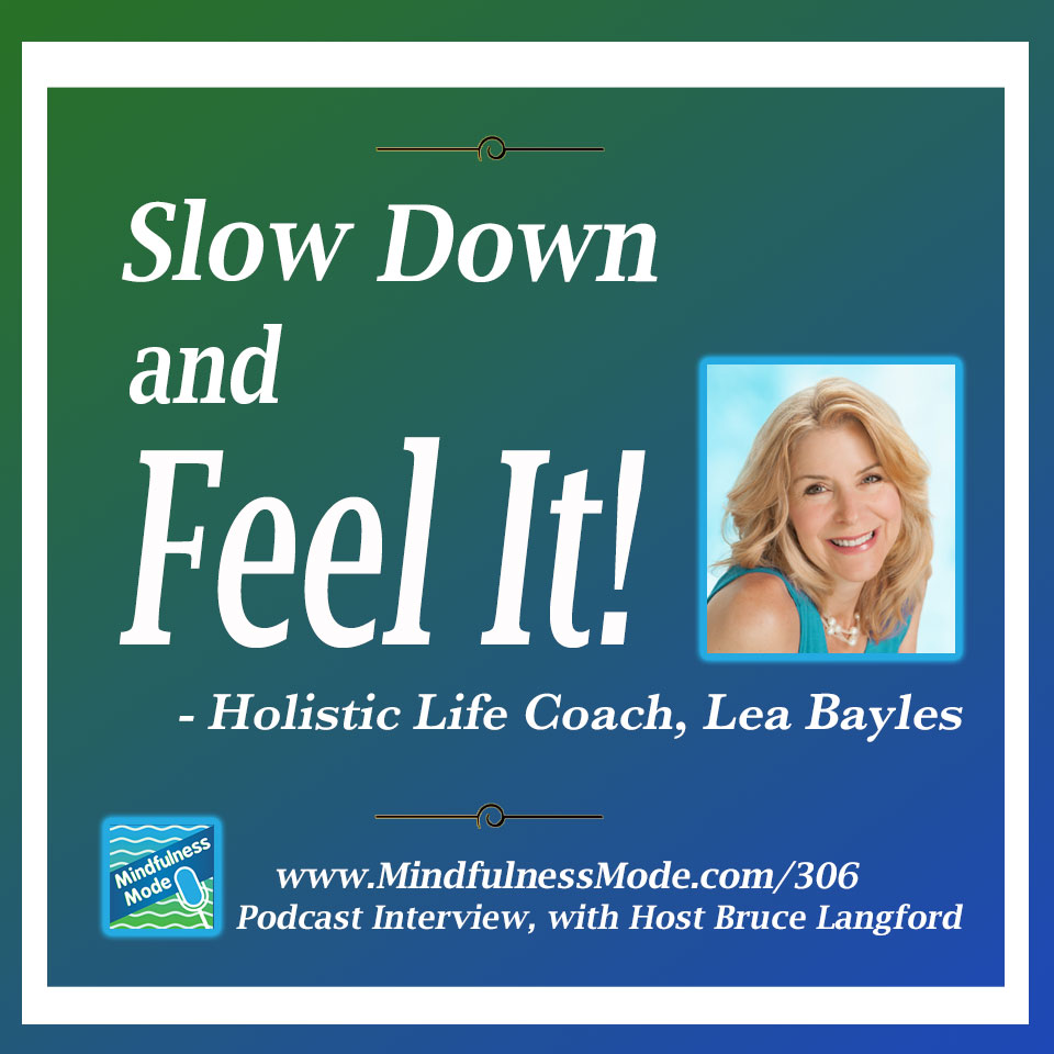 Mindfulness Mode Podcast 306: Slow Down and Feel It To Achieve Wellness with Lea Bayles