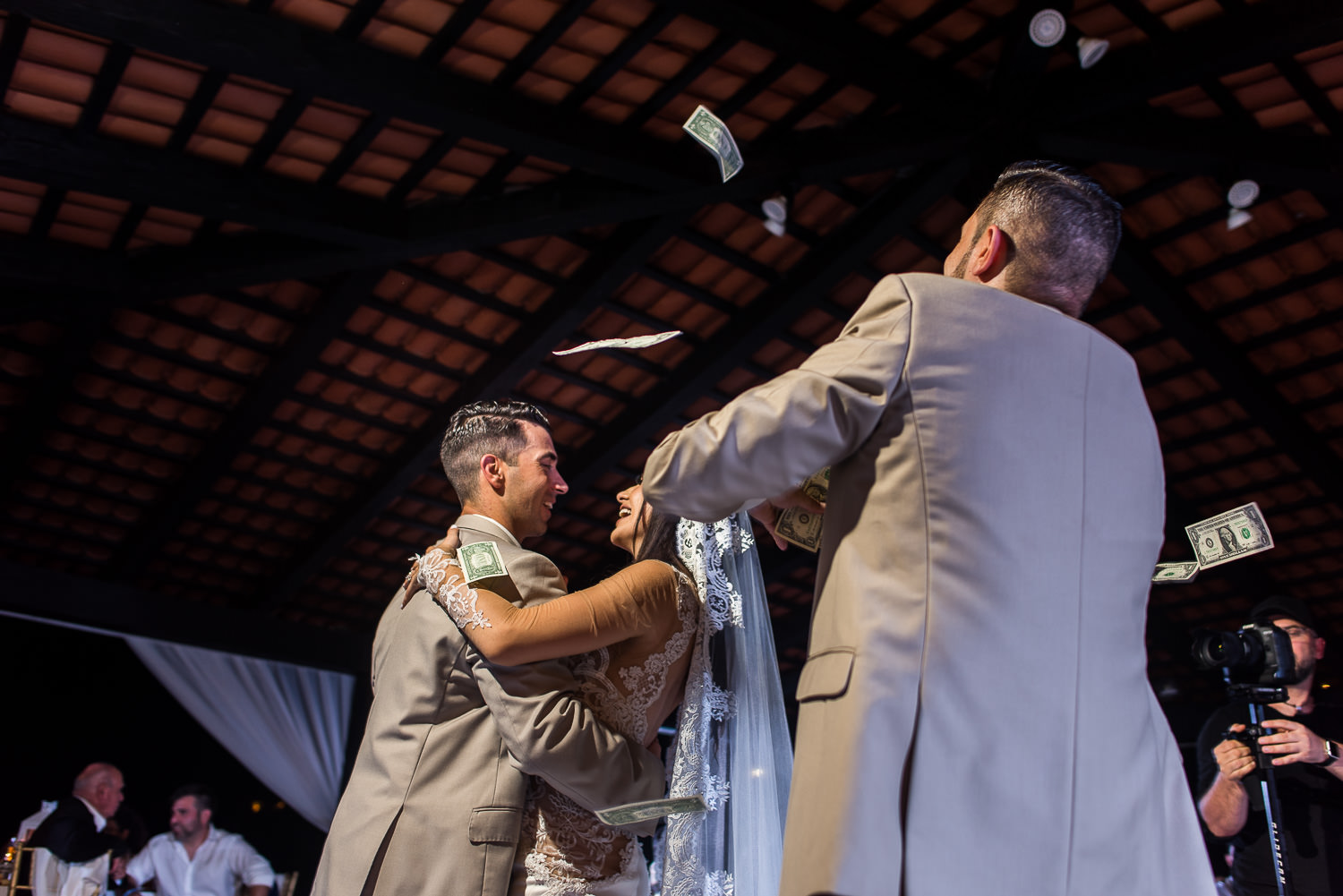 Bride and groom dancing during their Armenian wedding in Cabo San Lucas