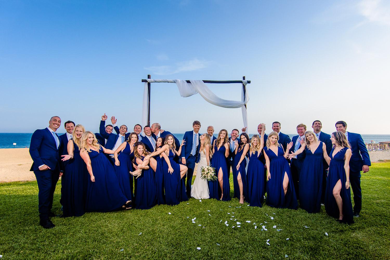 Bridal party during their Cabo destinationwedding day