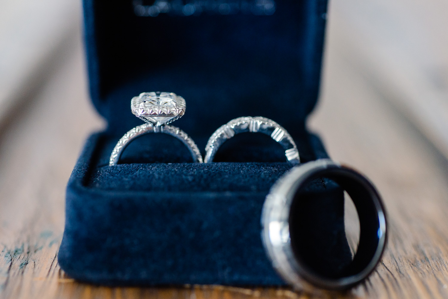 Detail of wedding rings captured for talented destination wedding photographer GVphotographer