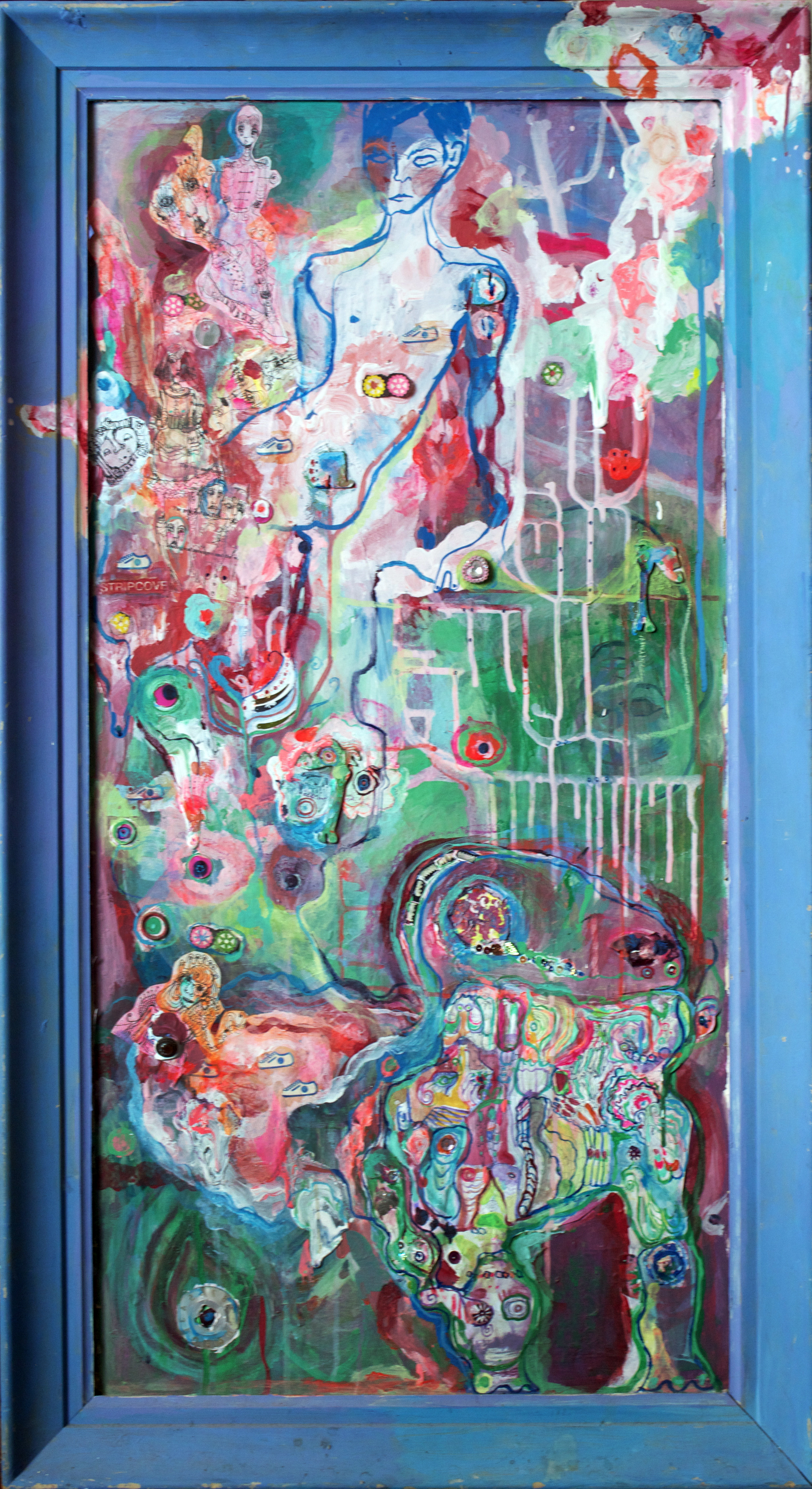 """Shannon View, mixed media,43x24"""", 2004"""