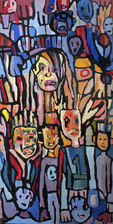 2001/Monkeyboy, acrylic on canvas, 4x2ft, 2001