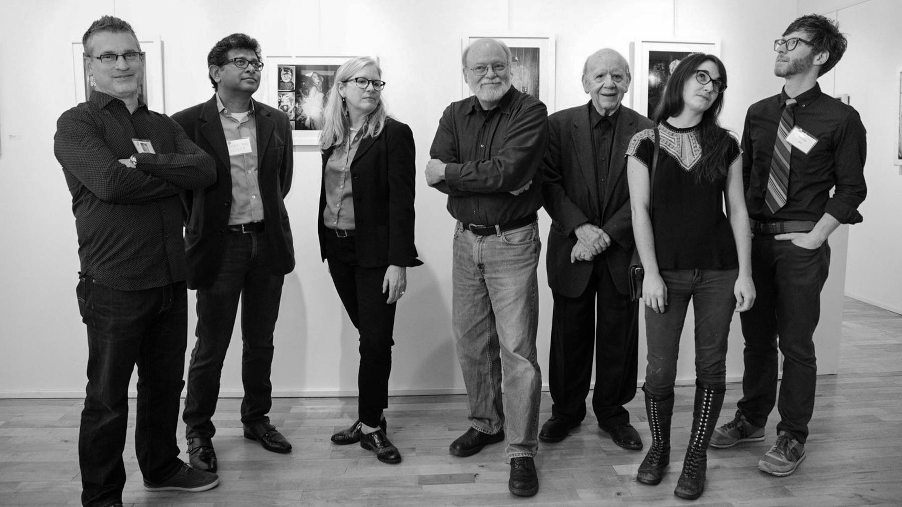 APG Director and patrons with the Portfolio 2017 exhibition juror and artists