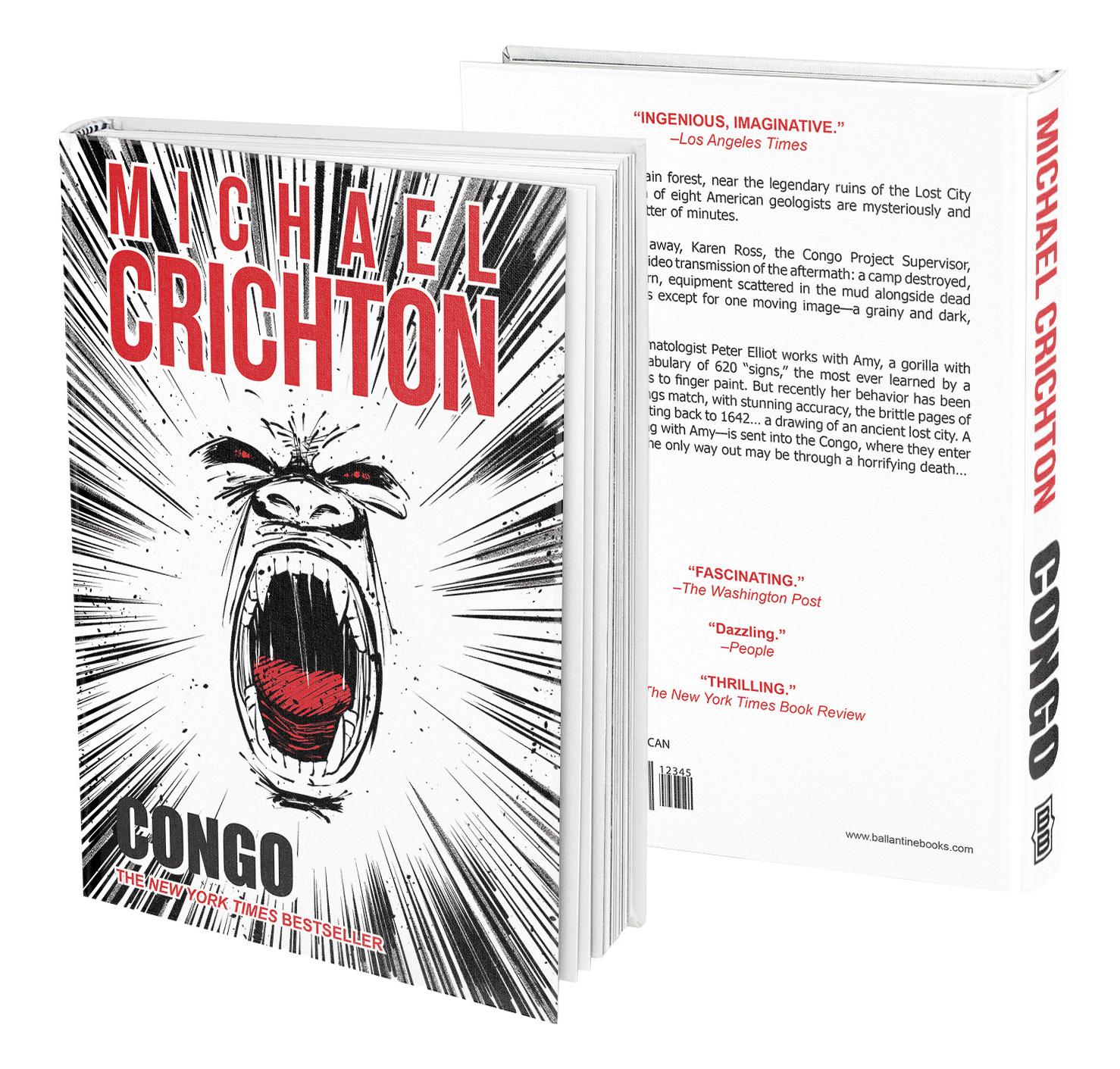 Book Cover Design - Michael Crichton