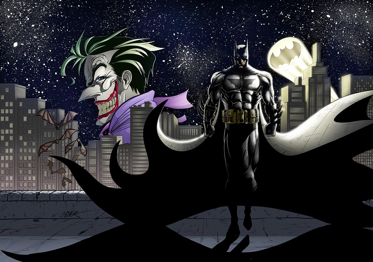 Digital Illustration - Batman & The Joker