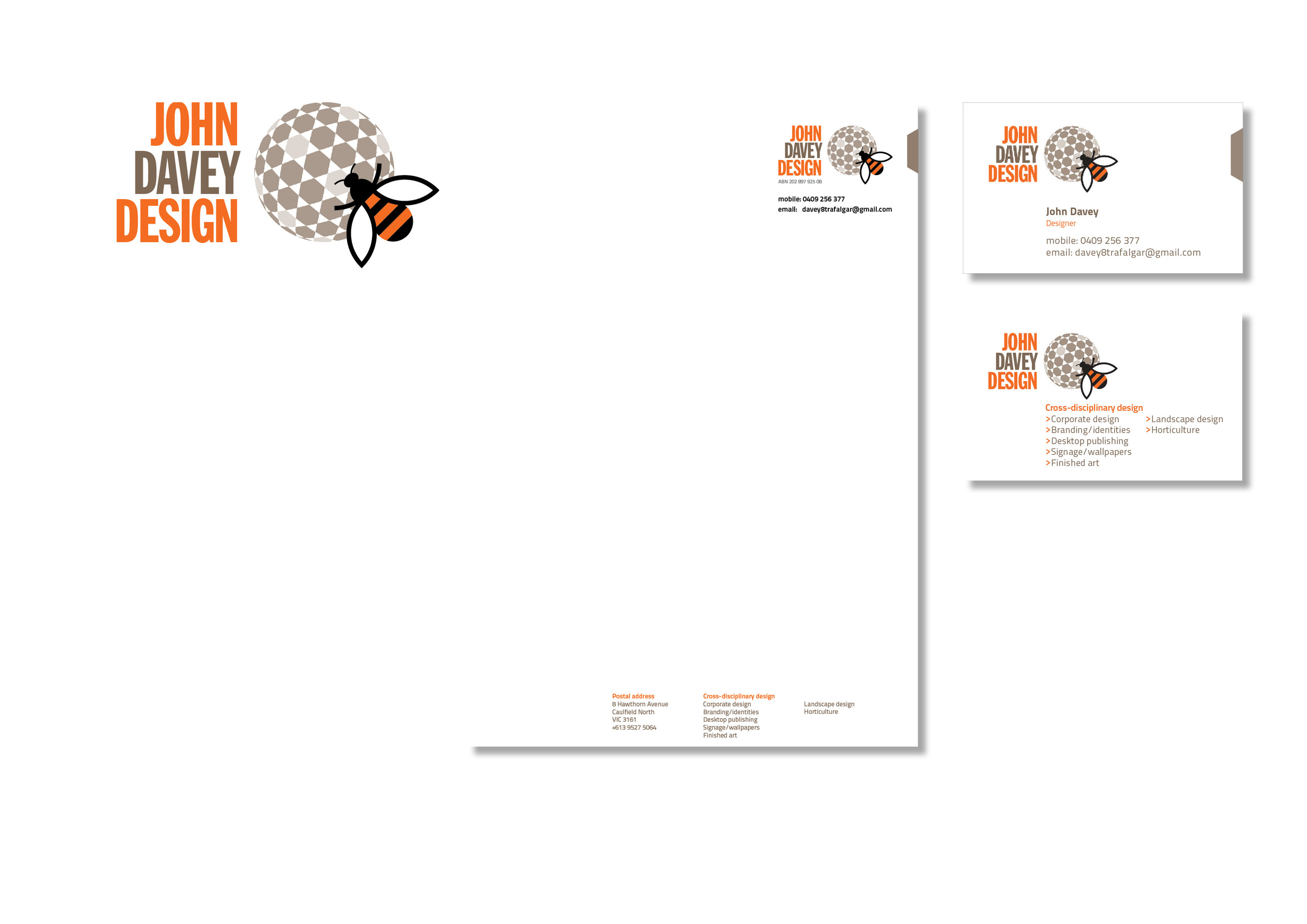 Corporate identity, John Davey Design