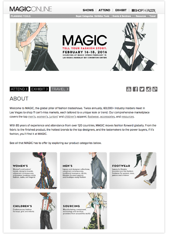 MAGIC main landing page