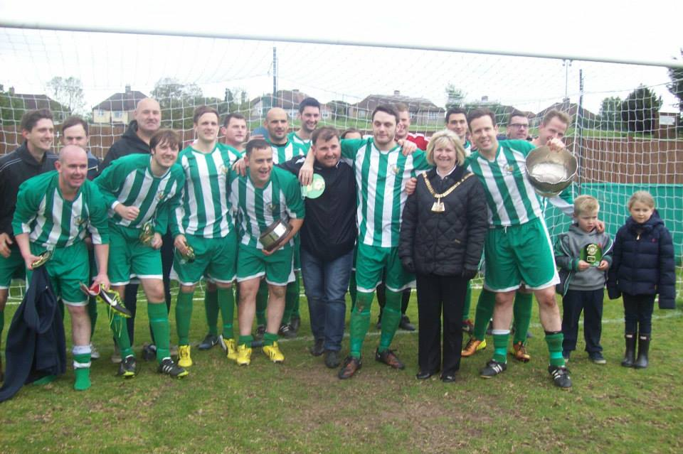 WJMB Winners in goalmouth with Mayor of Bexley.jpg