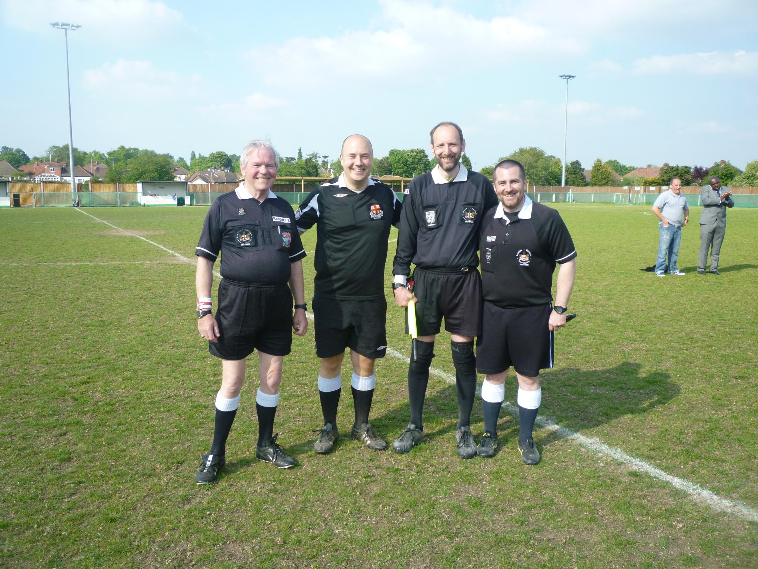 Dewar Shield 2013 match officials.JPG