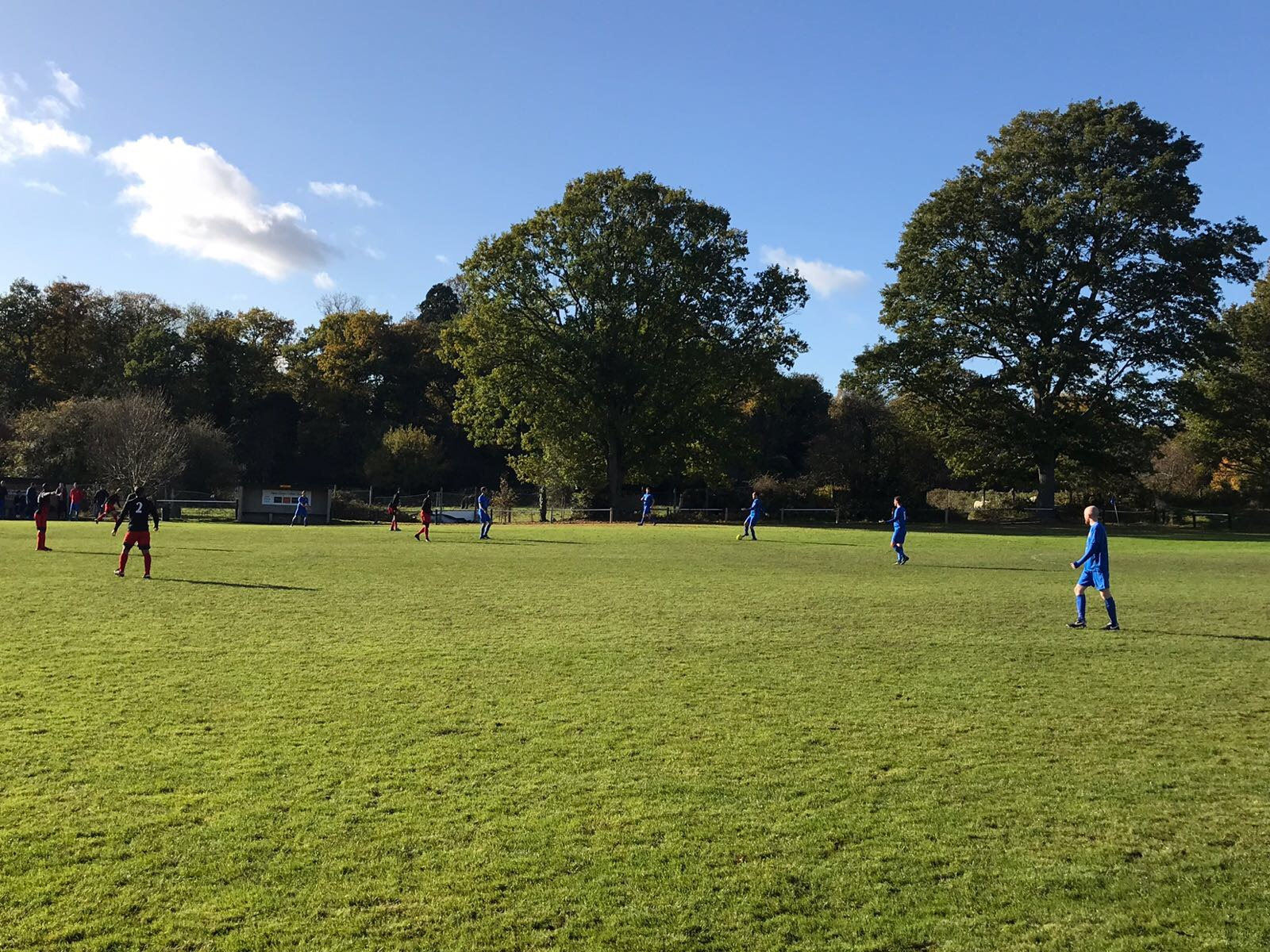 Blackfen Rovers warm up for their first WESFA game on the 12th November with a 4-2 defeat against Woolwich 90 at Oxford Road. Pic courtesy of Dave Fone