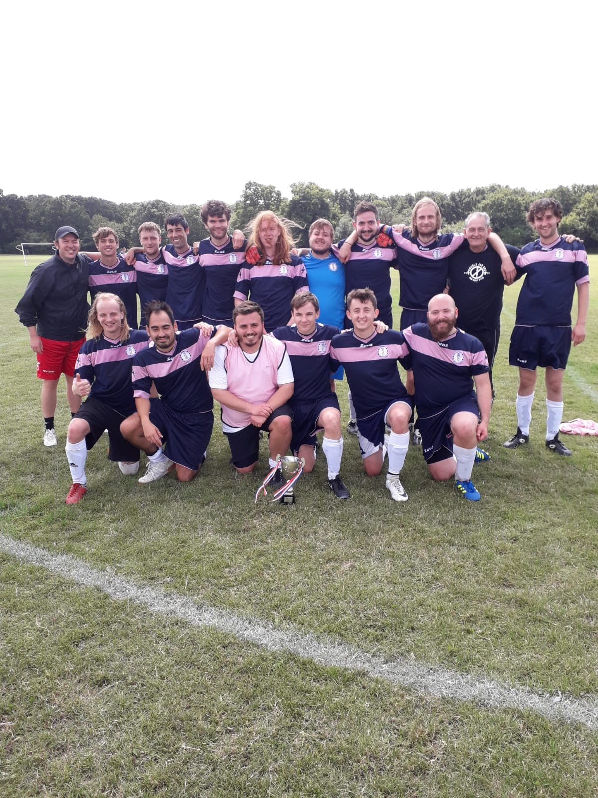 AFC Sporting Greenwich, winners of the A&H International Cup, first trophy of the 2019/20 season after beating the Referees on Penalties.