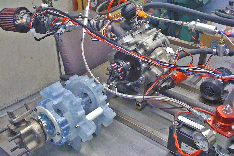 AIXRO XR50 donor engine & CATRE rapid prototype mock up