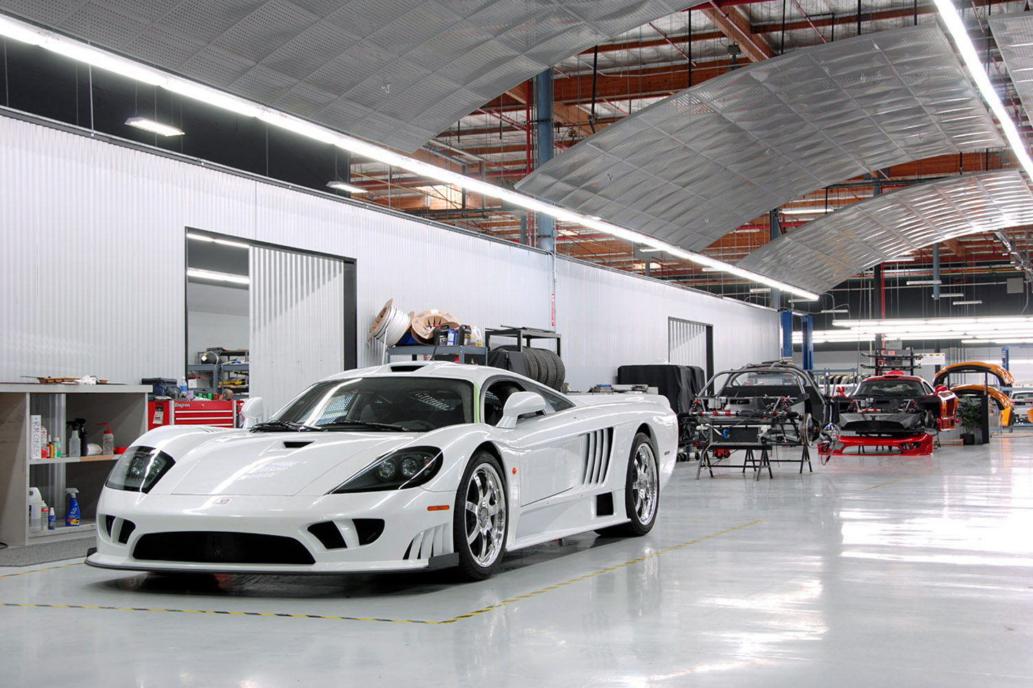 Saleen S7 Assembly Area