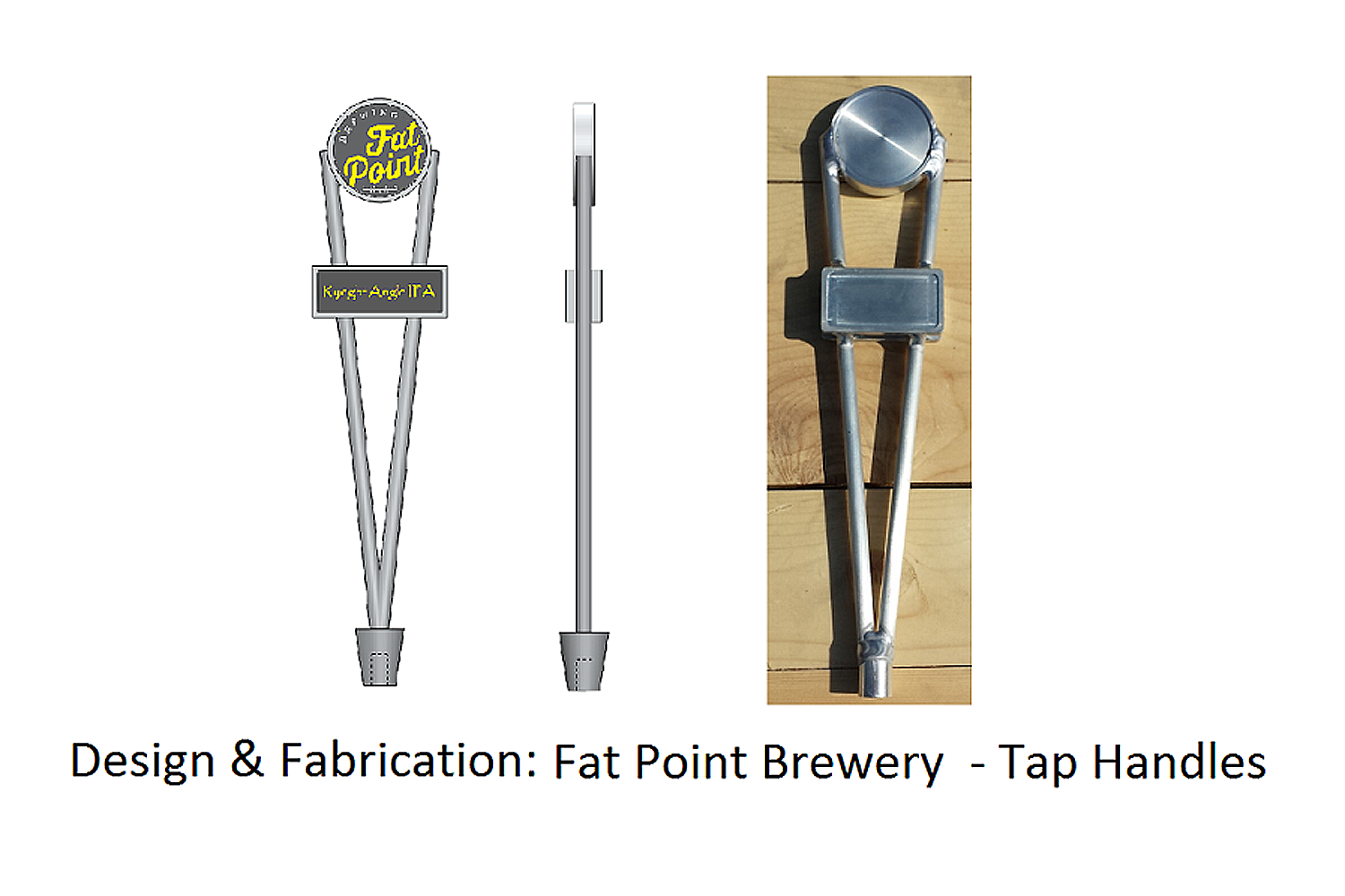 aluminum hand crafted beer tap handle, creation to manufaturing
