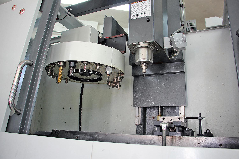 inside CNC machine