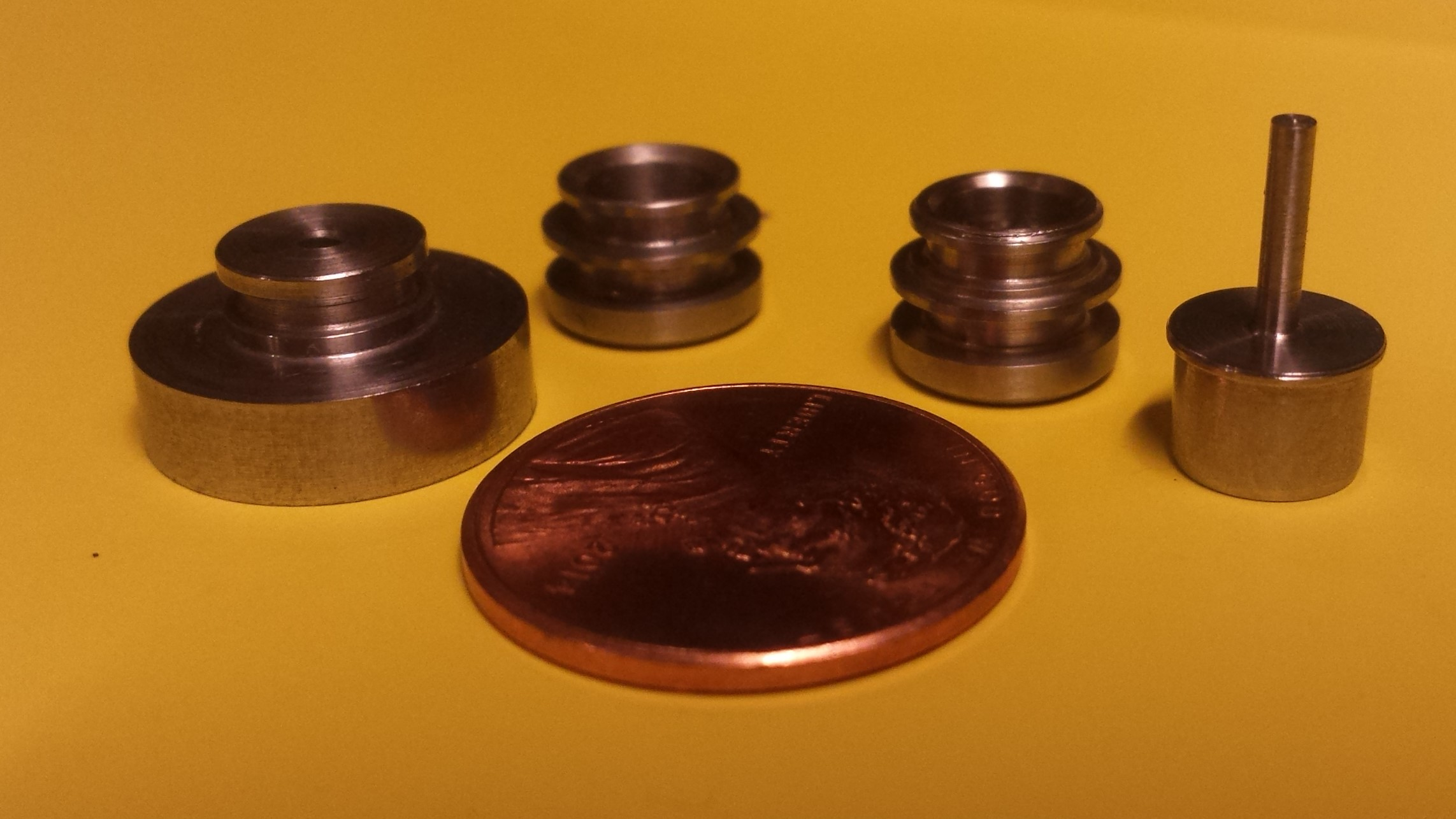 Assorted small turned parts