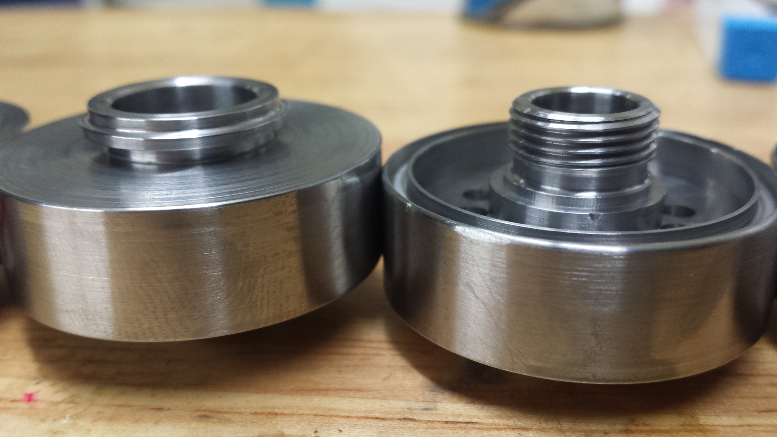 turned AL plate parts
