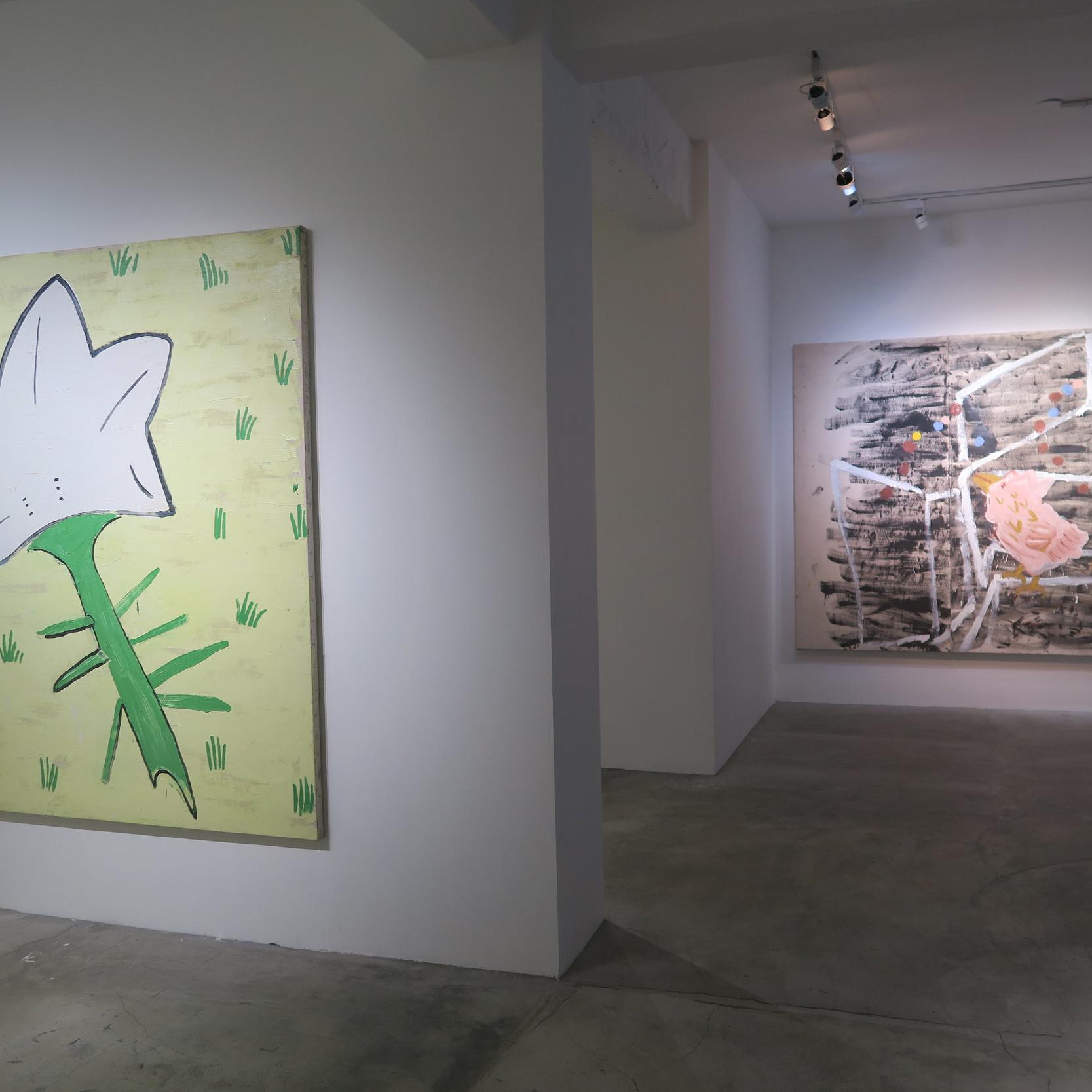 英國奶奶的烏托邦花園:蘿絲・薇莉個展  Rose Wylie: Yellow Bird and Leaves    2015.10.31—12.06