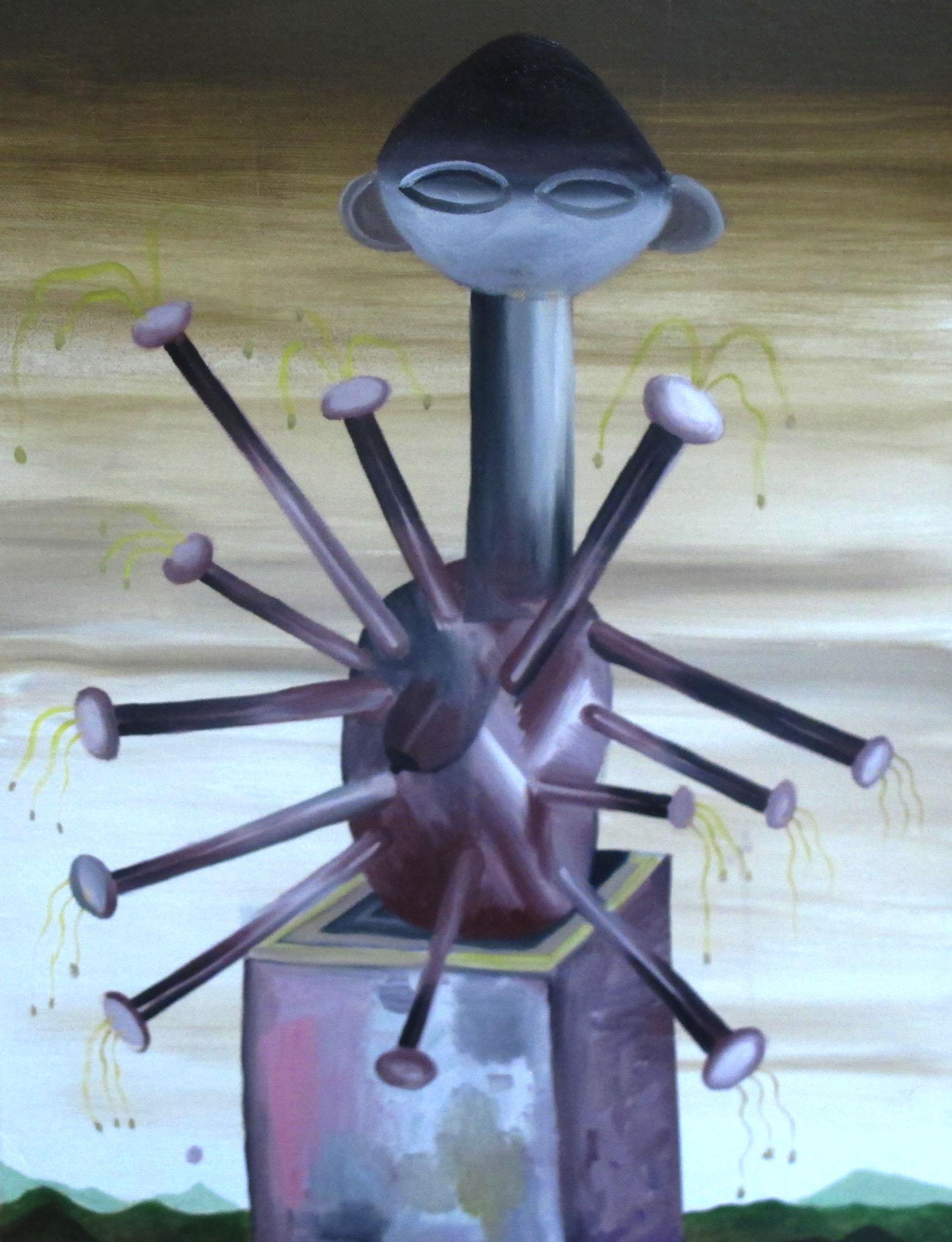 〈熱帶遺跡|Tropical Relic〉,油彩於畫布|Acrylic on canvas,45.7 x 61 cm|  18 x 24 inches,2019.jpg