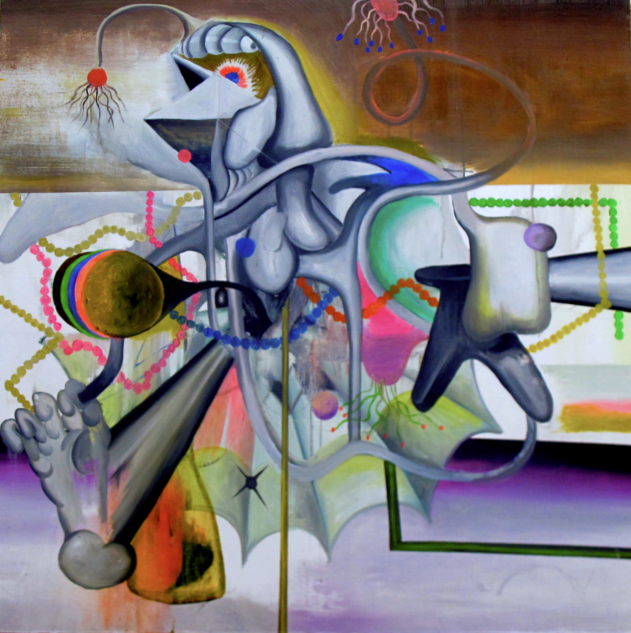 Boneless _ 無骨,2018,油料於畫布 _ Oil on canvas 91.5 x 91.5 cm _ 36 x 36 inches.JPG