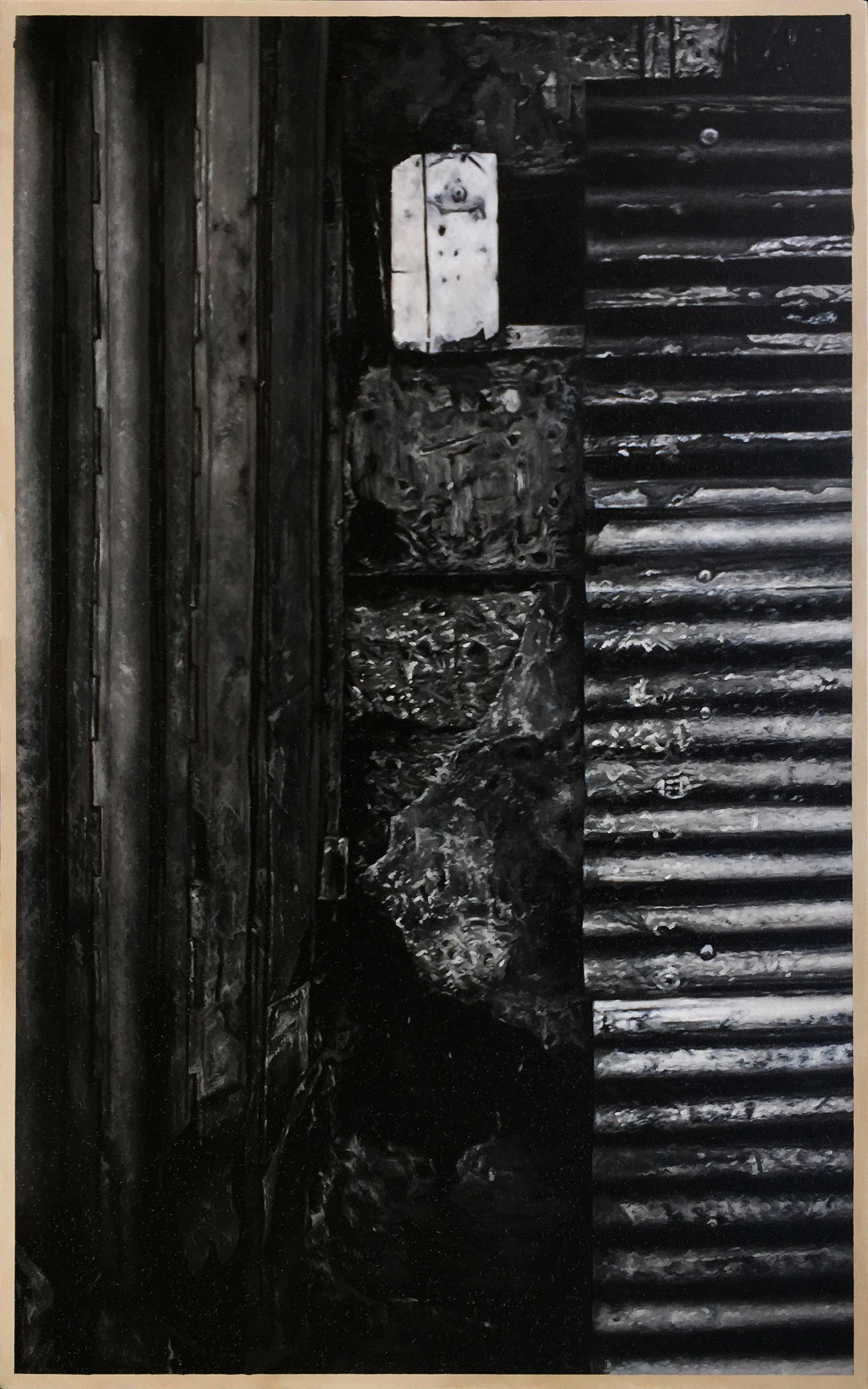 席康・森尼斯 _ Ciron Señeres〈混凝土版,金屬地板|Concrete sheet, metal ground〉,油彩於畫布|oil on canvas,160 cmx100 cm _ 63.0 in x 39.4 in,2019.jpg