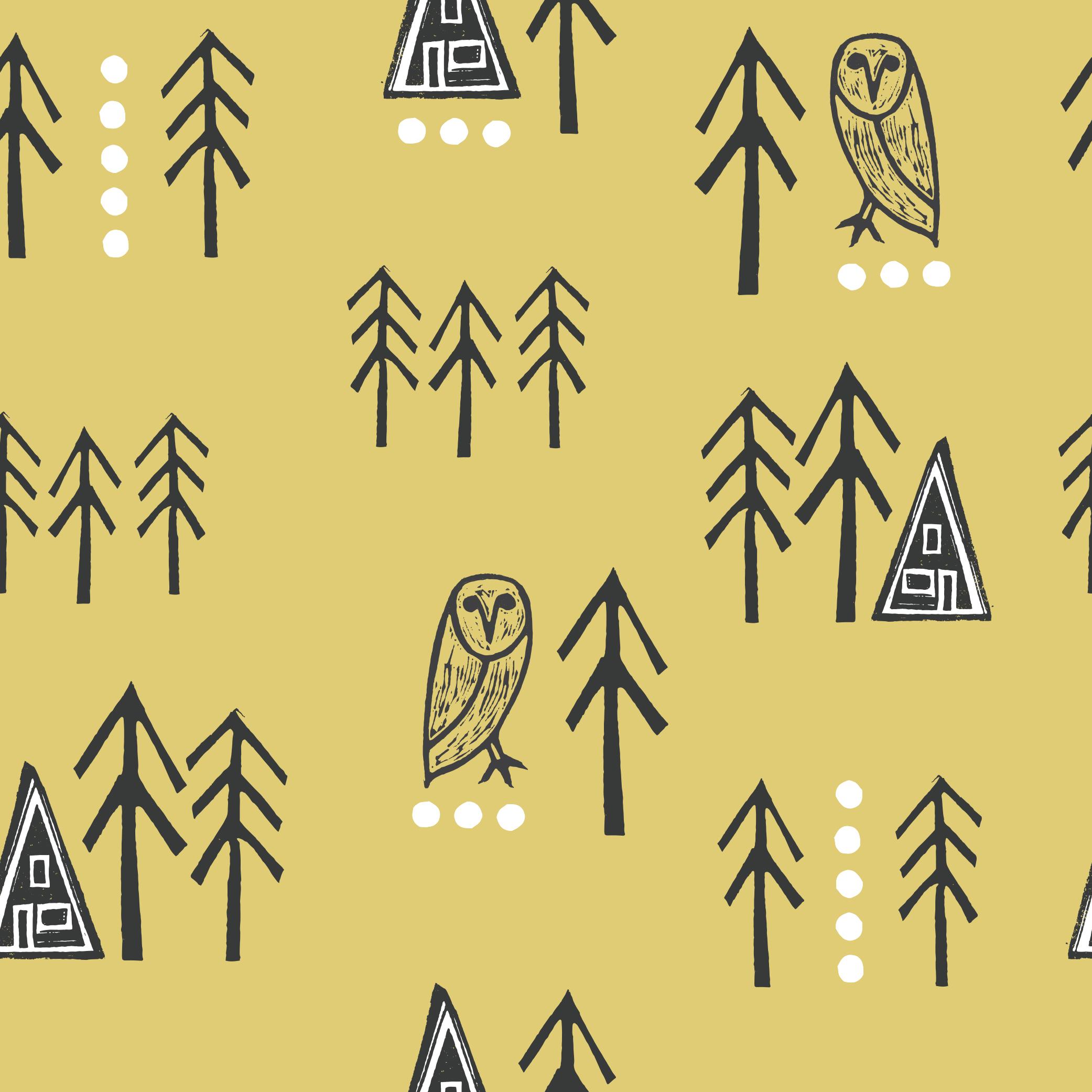 Cabin Life pattern_gold.jpg