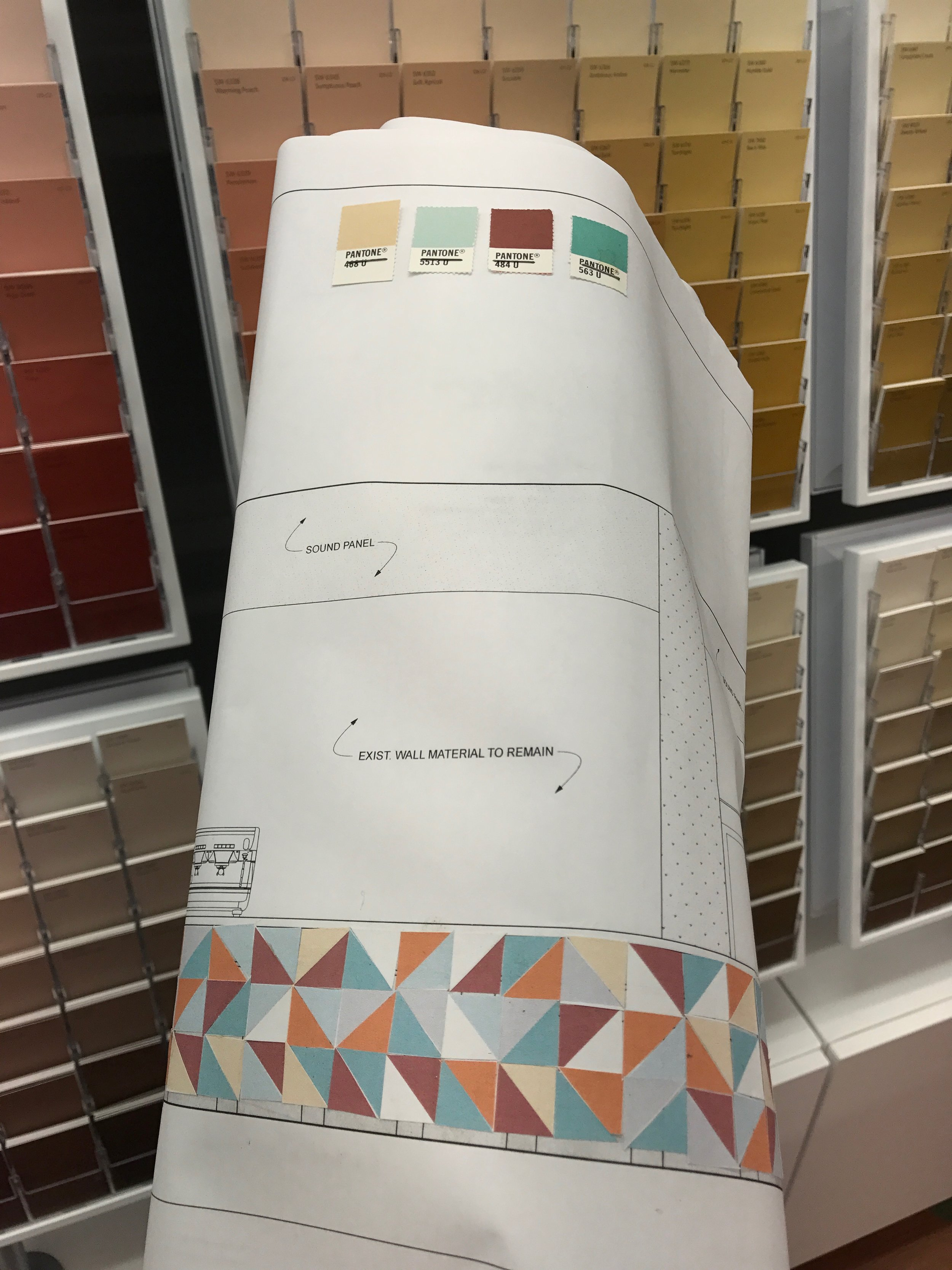 I spent so much time at the Sherwin Williams store on Centre Ave. I have an account and even bought myself one of those legit paint sample books.