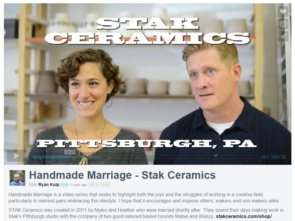 We are proud to have been featured in Monet & Ryan's Handmade Marriage video series.