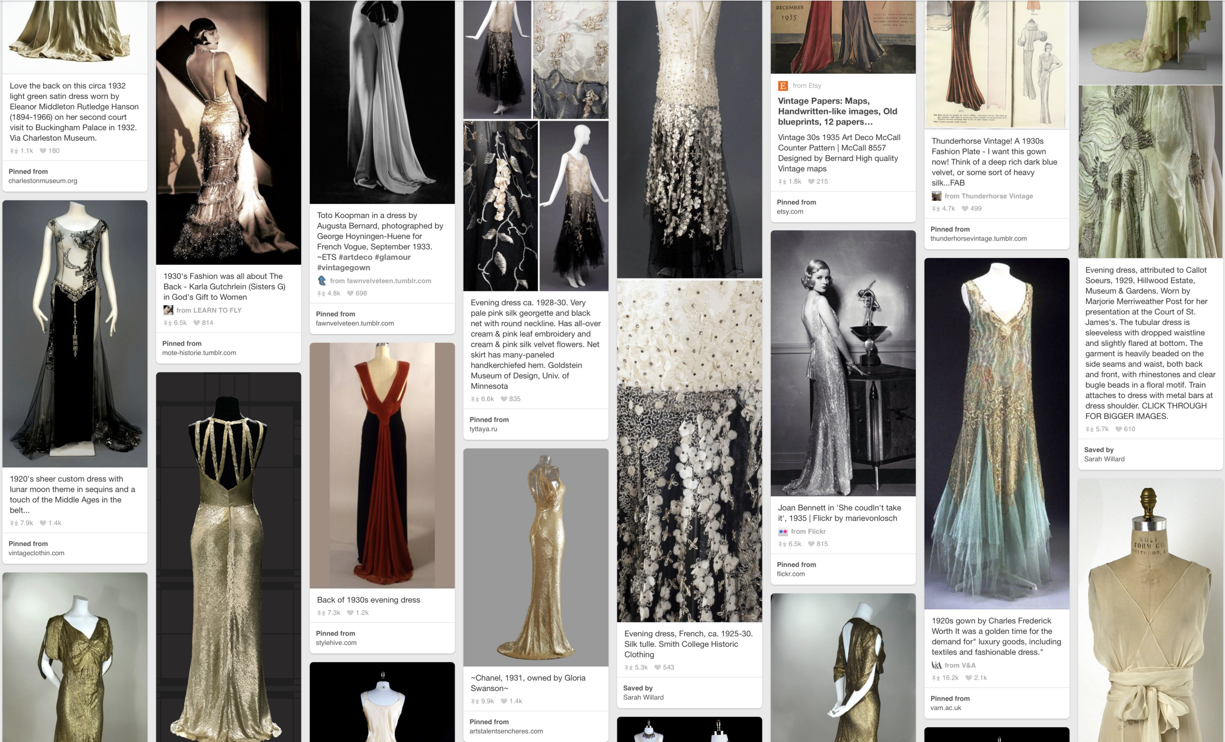 """Our """"Great Gatsby"""" Pinterest board."""